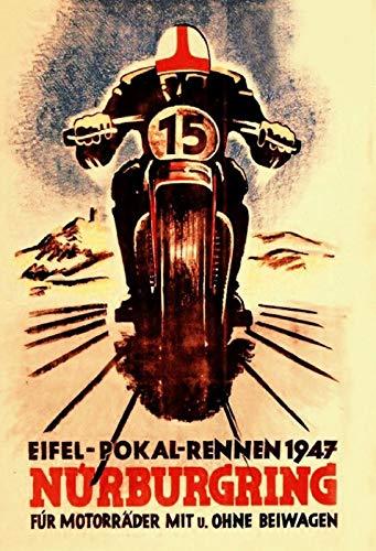 FS Retro Eifel Pokal Rennen 1947 Nürburgring Blechschild Schild gewölbt Metal Sign 20 x 30 cm