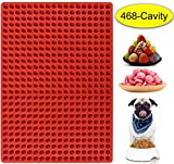 Palksky 468-Cavity Mini Round Silicone Mold/Dog Treats Pan/Semi Sphere Gummy Candy Molds for...