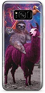 Funny Star Wars Samsung Galaxy S8 Case Animal Jedi Rainbow Cat Llama Squad Sith Lightsaber Fight Clear Durable Plastic Case for Samsung Galaxy S8 Sloth Sloth Vader MA1304