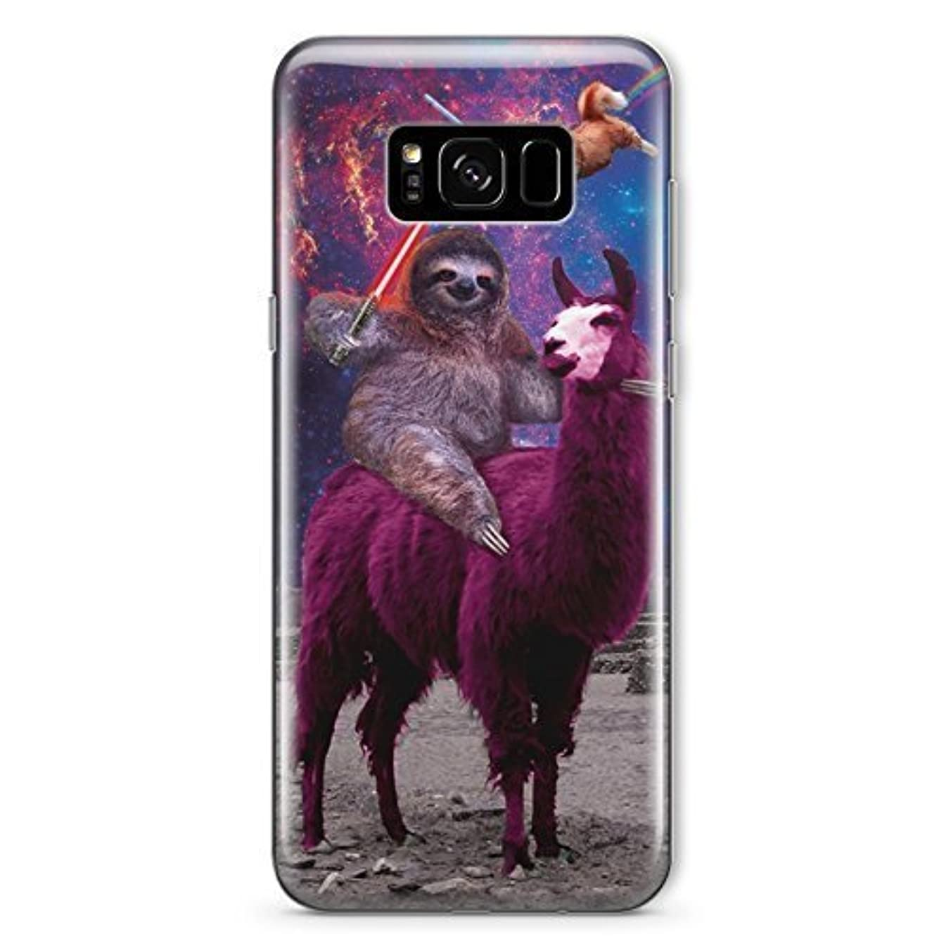 Funny Star Wars Samsung Note 8 Case Animal Jedi Rainbow Cat Llama Squad Sith Lightsaber Fight Clear Durable Plastic Case for Samsung Note 8 Sloth Vader MA1304