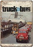 Truck & Bus Transportation ティンサイン ポスター ン サイン プレート ブリキ看板 ホーム バーために