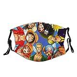 One_Piece Face C_over Anime Face Madk Bandana protectora de tela ajustable, lavable y reutilizable r...