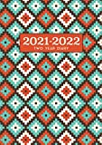 2021-2022 Two Year Diary | Indigenous Teal Orange: UK Month to View A5 Planner | Personal Organisers, Agendas, Schedule Planners, Monthly Calendars (Inspirational / Motivational)