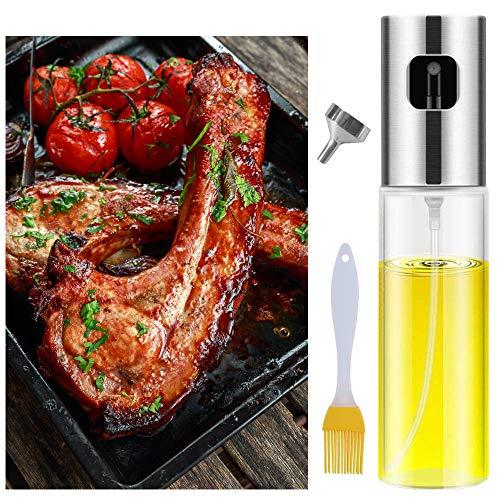 Oil Sprayer Dispenser,Olive Oil Sprayer with Clean brush, spray bottle for oil Versatile Glass spray...