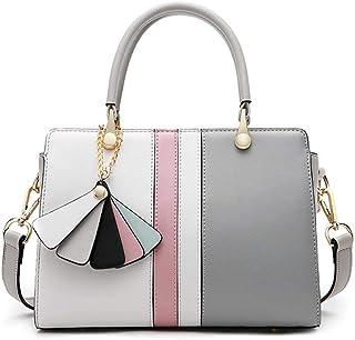 Handbag-female New Fashion Leather Simple Platinum Bag Hit Color Leather Handbag Baodan Shoulder Bag Messenger Bag Ladies ...