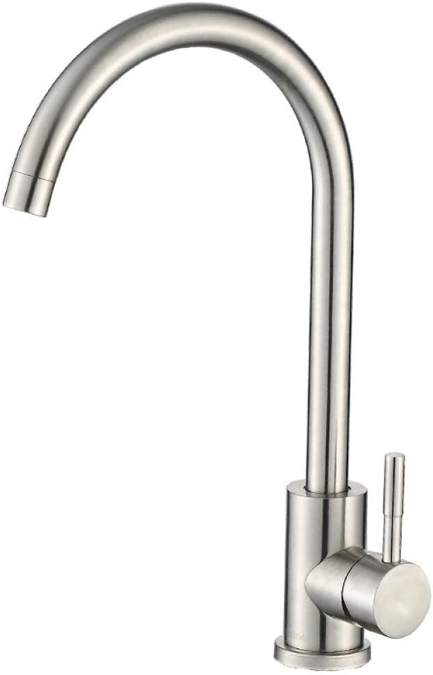MBYW Max 74% OFF Kitchen Faucet Modern Stainless S Great interest Sink Steel