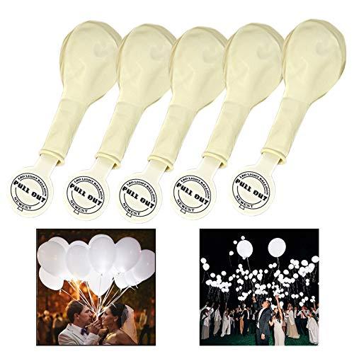 Xrten 25 stuks LED lichtgevende ballonnen, witte decoratie LED ballonnen voor bruiloft, feestjes, Kerstmis en verjaardag