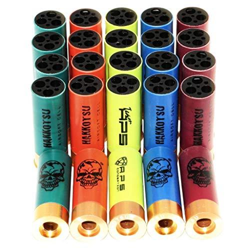 Airsoft Partie APS 25pcs x9rd Co2 MK2 MK-II GEN3 Quick Load Chargement Rapide CAM870 Shotgun Cartridge Shell Coquille de Cartouche de Fusil de Chasse