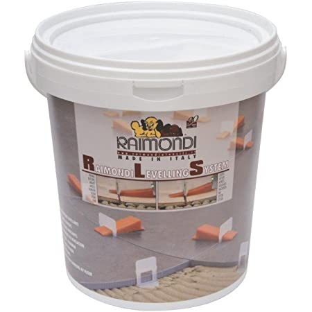 Raimondi, Leveling System Starter Kit - 100pcs wedges in bucket, 100 Regular clips & floor plier
