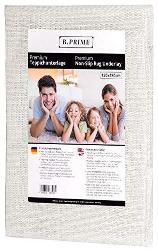 B.PRIME 120x180cm Antirutschmatte Premium I Teppichunterlage I Teppichunterleger I Teppichunterlage I Rutschschutz für Teppich