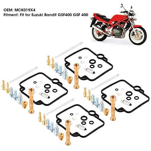 Aukson Kit Ricostruzione Carburatore Auto, 4 Set Kit di Riparazione Carburatore Carburatore Moto MCK019X4 Adatto per Su-zuki Bandit GSF400 GSF 400