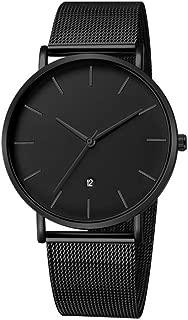 Infinito U-Reloj Impermeable para Hombres Relojes Deportivo de Cuarzo Analógico Relojes Lujoso Moda Casual Reloj Redondo Negro Fecha