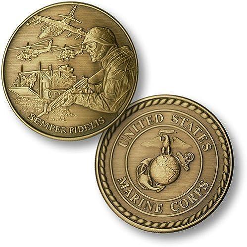 sin mínimo Marine Corps Theme - USMC USMC USMC Bronze Antique by Northwest Territorial Mint  comprar nuevo barato