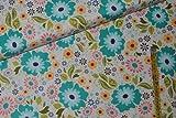 alles-meine.de GmbH 1 m * 1,1 m Stoff Blumen Baumwolle