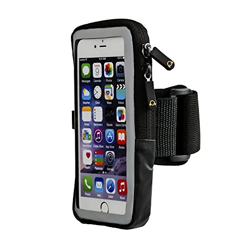 Case Compatible Cell Phone Armband with ID & Key Holder Compatible with iPhone 8 7 6 6s 5 SE Galaxy...