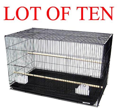 "Mcage Lot of Ten Aviary Breeding Breeder Lovebird Finch Parakeet Finch Flight Cage 20""x14""x14""H"