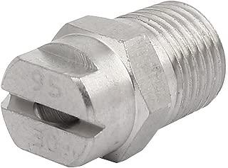uxcell 1/4BSP 3.6mm Orifice Spray Dia 95 Degree Stainless Steel Flat Fan Spray Tip