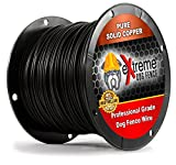 PetSmart Invisible Fence Compatible Above Ground or Underground Wire for DIY Electric Pet Fence - 1000 Foot Spool of Better Quality High Performance Solid Core Copper Wire for Easy Installation