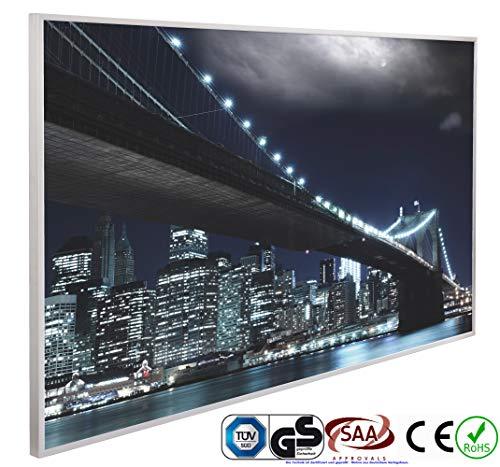 INFRAROT-HEIZUNG 600W-NEW YORK-(1026)-60x100 cm-Bild-Heizung Heiz-Panel Elektro-Heizung Heiz-Körper Heiz-Strahler Heiz-Platte Strahlungs-heizung Flach-Zertifiziert TÜV GS CE ROHS SAA-Garantie 5 Jahre