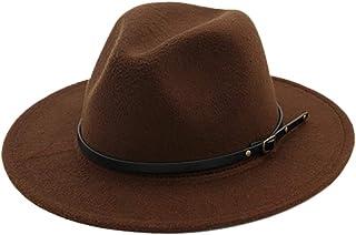 4a464f41a besbomig Sombrero Fedora Sombreros de Sombrerera de Jazz para Hombres Mujer  - Sombrero de ala Ancha