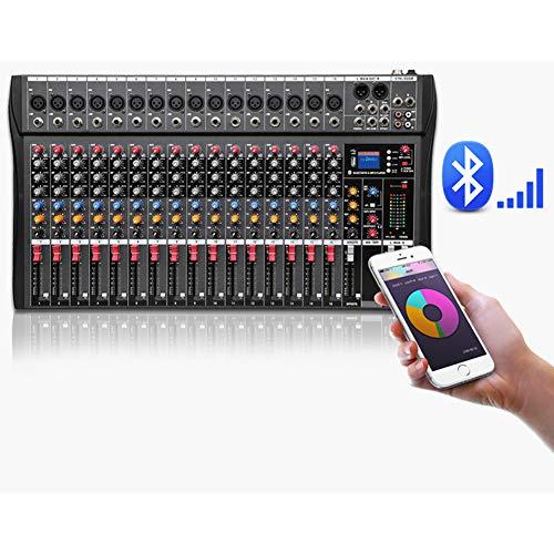 HLW Profesional 16 Canales Bluetooth micrófono Digital Mezclador de...