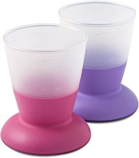 BABYBJORN 防滑宝宝学习杯 紫色+粉色 2只装 (产地:瑞典)