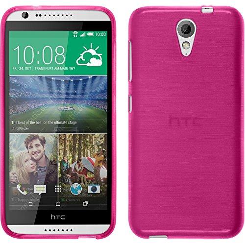 PhoneNatic Funda de Silicona Compatible con HTC Desire 620 - Brushed Rosa Caldo...