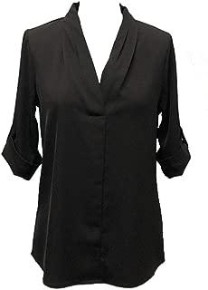 Love Letter Women's V-Neck 3/4 Sleeve Woven Top