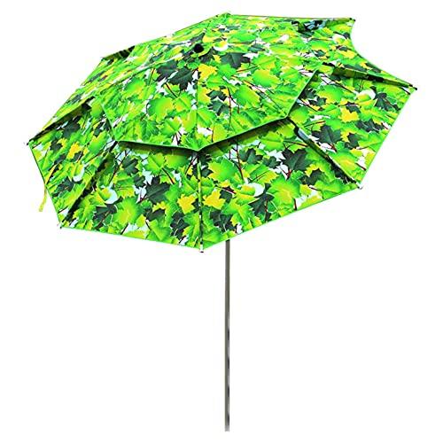 Paraguas de playa para paraguas de playa con horquilla cortavientos y bolsa de almacenamiento, tejido Oxford, resistente al viento, resistente al viento y a la lluvia