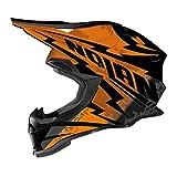 Casco Nolan N53Comp MX, colore Nero/Arancione, Taglia L (59/60)