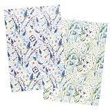 Ideen mit Herz 2 hojas de papel de arroz, papel de decoupage elegante, DIN A4, 2 diseños diferentes, vintage, Navidad, etc. (flores 19)