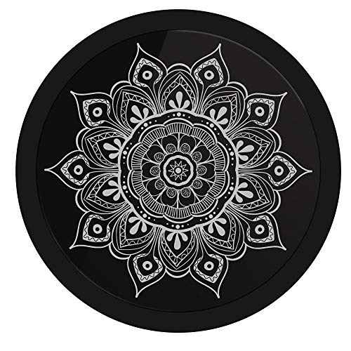 yaoyao Reloj De Pared 10 Pulgadas Patrón De Flores De Colores Mandala Señal De Iluminación Led Forma Simple Y Generosa Elegante Y Personalidad para El Dormitorio Sala De Estar Regalos Escolares