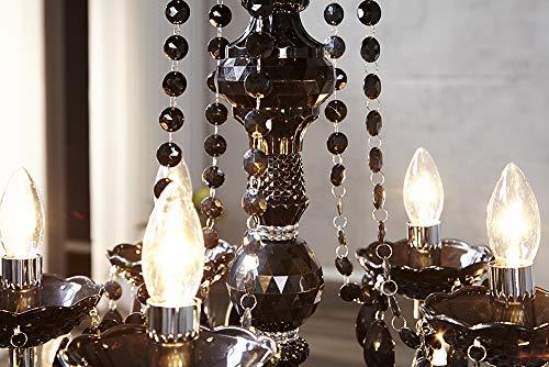 15-flammiger Design Kronleuchter BLACK CRYSTAL schwarz 15-armig Lüster Lampen Hängeleuchte Deckenlampe - 4