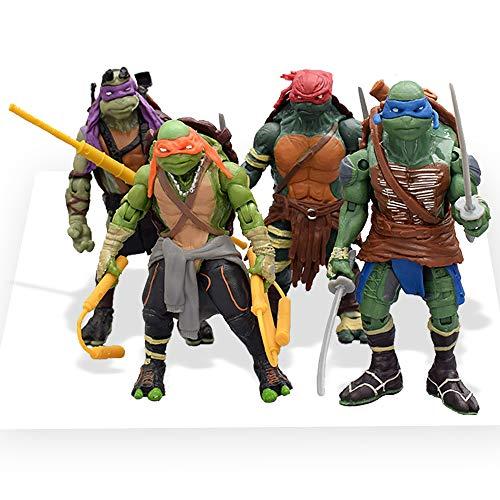 Chez Inspired by Ninja Turtles Mutant Teenage Action Figures [Classic Model 2014], 5.5 in (Set 4 pcs)