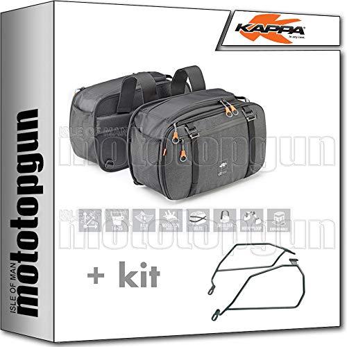 kappa borse laterali ah202 16-25 lt + portaborse laterali compatibile con moto guzzi v7 iii stone 2020 20