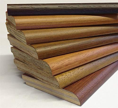 Battiscopa in legno Misura 70x8 mm. cf. 10 aste 2,4 mt. (Liscio - Finitura Noce)