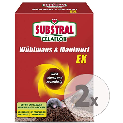 Substral-Celaflor Wühlmaus & Maulwurf Ex (2 x 150g)