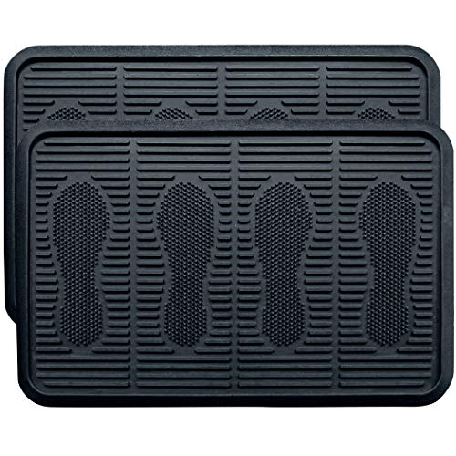 SafetyCare Rubber Shoe & Boot Tray - Multi-Purpose - 24 x 16 Inches - 2 Mats