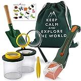 Monte Stivo® Kit Explorador niños | con Lupa de Vaso para Insectos | Regalo de Juguete Ideal para niños y niñas (Verde) (Verde)