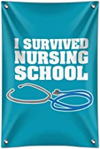 GRAPHICS & MORE I Survived Nursing School Stethoscope RN Home Business Office Sign
