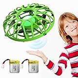 EACHINE E111 Mini Drohne Kinder UFO Fliegendes Spielzeug RC Quadcopter mit IR-Sensoren Handgesteuerte Drohne LED-Leuchte(Grn, 2 Batterien)