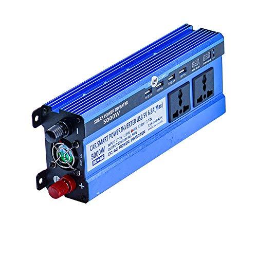 Inversor Inversor solar 12/24 / 48V 220V 5000W Inversor convertidor de voltaje del transformador 4 USB Solar Power Inverter Cargador for el hogar del coche Inversores de corriente (Color Name : 24V)
