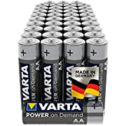 VARTA Power On Demand - Pilas alcalinas AA / LR6 / Mignon (pack de 40 unidades, 1.5 V)