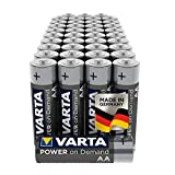 VARTA Power On Demand - Pilas alcalinas AA / LR6 / Mignon (pack de 40 unidades, 1.5 V)...