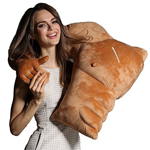 VACHICHI - Muscle Man - Almohada con forma de cuerpo y brazo, para abrazar a tu novio o marido, regalo de broma para cumpleaños, día de San Valentín