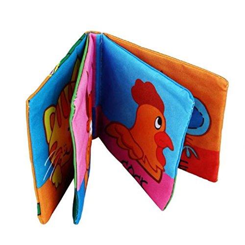 Malloom Panno Morbido Sviluppo Libro Bambino Imparare Intelligenza Immagine Cognize Libro (B)
