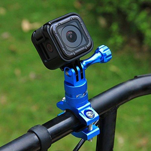 PULUZ 360 Grad Rotation Aluminium Fahrradlenker Adapterhalterung mit Schraube für GoPro HERO 6/ 5 / 4 / 4 / 3+ / 3/ 3/ 2/ 1 Session 5 / 4, Xiaoyi Sportkamera