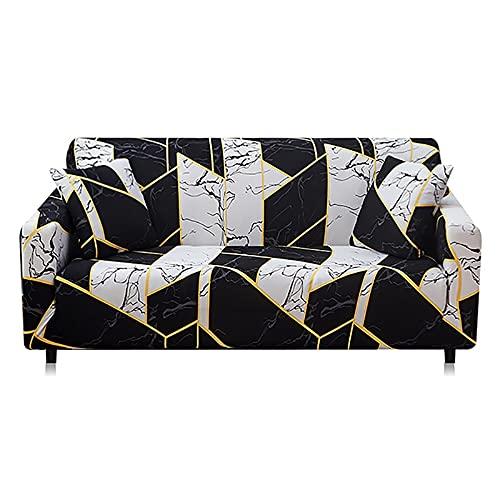 Funda de sofá de algodón elástico elástico para sofá Toalla Fundas de sofá Antideslizantes para Sala de Estar Totalmente Envuelto Anti-Polvo A10 4 plazas