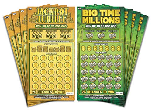 Larkmo Prank Gag Fake Lottery Tickets - 8 Total Tickets, 4 of Each Winning Ticket Design, These...