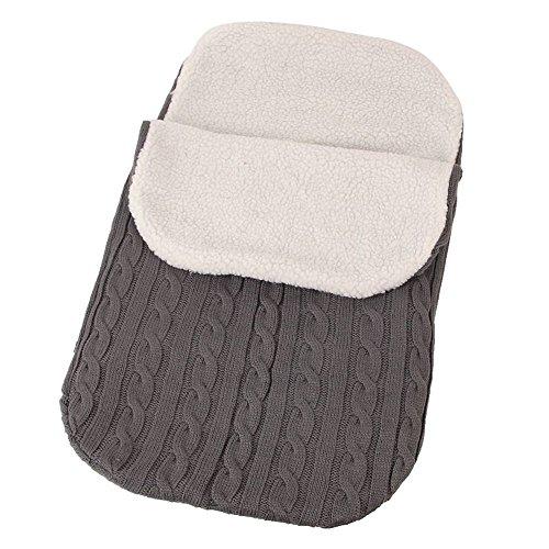 Litthing Herbst und Winter Baby-Schlafsack für Neugeborenen Baby Verdickung aus Lammfell Gute Warmhaltung Gestrickte Babydecke geeignet für Kinderwagen